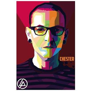 0082d18489 Buy Posterskart Chester Bennington Linkin Park Graphic Illustration Poster (12  x 18 inch) Online - Get 33% Off