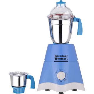 SlientPowerSunmeet 750 Watts Blue Color Mixer Grinder with 2 Jar (1 Large Jar and 1 Chuntey Jar) Direct Factory Outlet, Save On Retailer margin.