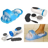 Combo offer 1 x Pedi Spin Professional Pedicure Foot Care Tool Electronic Foot Callus Removal, +  1 x  Easyfeet Shower