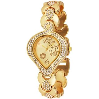 TRUE CHOICE NEW BRAND GOLD DAIMOND ANALOG WATCH FOR GIRLS WOMEN. 6 month warranty