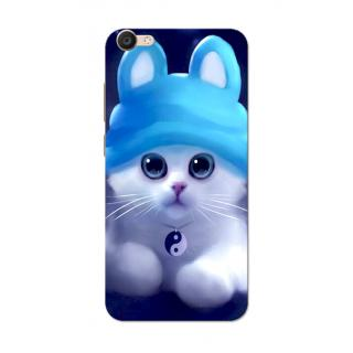 Vivo V5 Case, Cute Kitten Blue Slim Fit Hard Case Cover/Back Cover for Vivo V5/V5S