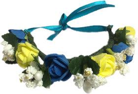 Loops N Knots Blue Floral Wrist Band