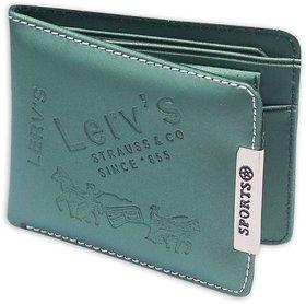 Fashion Store Green Men Bi-fold Wallet PU