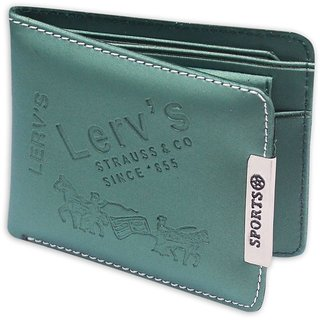 Unique Collections Green PU Bi-fold Wallet (Synthetic leather/Rexine)