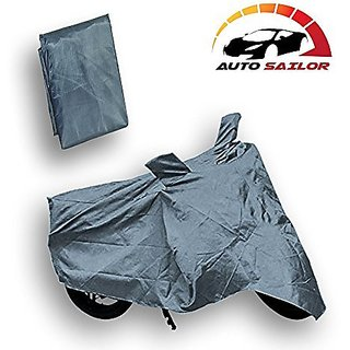 Autosailor Grey Bike Body Cover For Mahindra Rodeo UZO with free Branded keychain