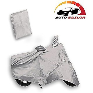 Autosailor Silver Bike Body Cover For Hero Splendor Pro Classic with free Branded keychain