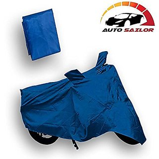 Autosailor Premium Blue Bike Body Cover For Hero Duet with free Branded keychain