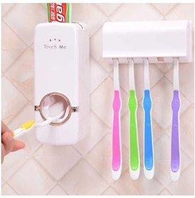 Automatic Vacuum Toothpaste Dispenser Squeezer and Tooth brush holder