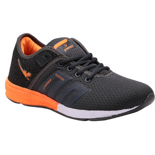 LOOK  HOOK FHONEX BATTLE MEN LACE UP SPORT GRAY ORANGE RUNNING SOES