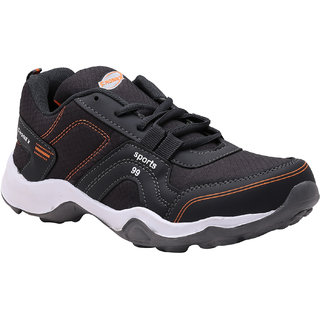 LOOK  HOOK FHONEX SPORT 99 DARK GRAY ORANGE LACE UP RUNNING SHOES