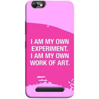 FUSON Designer Back Case Cover for Lenovo Vibe C :: Lenovo A2020 (I Am My Own Work Of Art Madonna Ciccone Quotes)