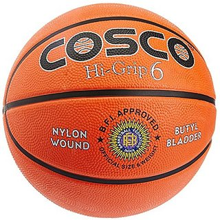 Cosco Hi-Grip Basket Balls Size 6 (Orange)