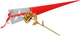 Golden Rose Flower Valentine Special