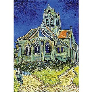 D-Toys The Church at Auvers Jigsaw Puzzle, 1000-Piece
