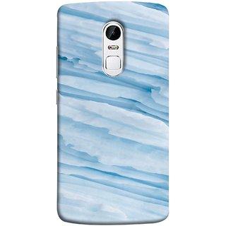 FUSON Designer Back Case Cover for Lenovo Vibe X3 (Deep Grooves Side Blue Iceberg Floating Antarctic)