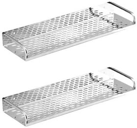 Prestige Kitchen and Bathroom Stainless Steel Shelf 12inch Pack of-2