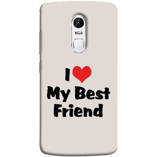 FUSON Designer Back Case Cover for Lenovo Vibe X3 (Lover True And Pure Friendship Day Hearts Forever)