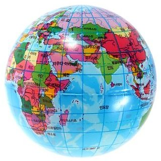 Buy world map sponge ball bouncy foam ball earth globe geography world map sponge ball bouncy foam ball earth globe geography stress relief toy korean text printed interior decoration toy gumiabroncs Image collections