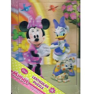 Disney Minnie 3d 24 Piece Lenticular Tray Puzzle