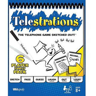 USAopoly Telestrations 6 Player - Family Pack