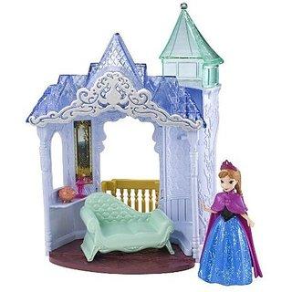 Mattel Disney Frozen Small Doll Anna Castle Playset