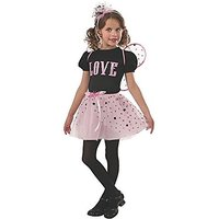 Rubies Pink And Black Love Bug Fairy Dress-Up Costume,