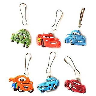 Buy 6 Pcs Pixar Cars 1 Zipper Pull Zip Pull Charms For Jacket
