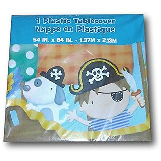 Little Boy Pirate Themed Plastic Tablecover - 54 inches x 84 inches