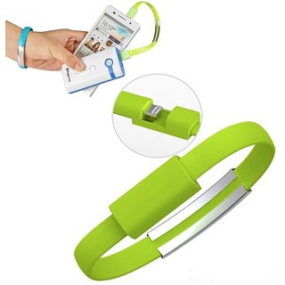 ECS Power Bank Charger Micro Usb Data Cable Band Short Flat Cable Bracelet Compatible For Syska Economy 100 10000mAH Power Bank  Pack Of 1 Pcs  Colors May Vary available at ShopClues for Rs.220