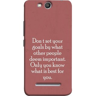 FUSON Designer Back Case Cover for Micromax Canvas Juice 3 Q392 (Important Only You Know What Is Best For You)
