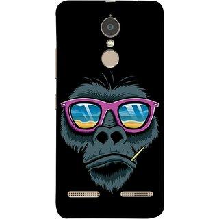 FUSON Designer Back Case Cover for Lenovo K6 (Pink  Toothpick Smoking Drawing Design)