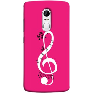 FUSON Designer Back Case Cover for Lenovo Vibe X3 (Colorful Music Notes Symbols Small Black Notes)