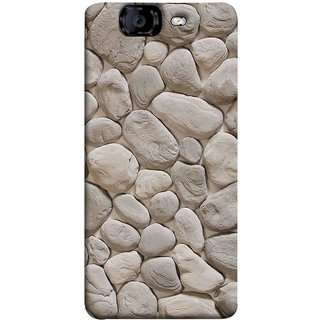FUSON Designer Back Case Cover for Micromax Canvas Knight A350 :: Micromax A350 Canvas Knight (Landscape River Old Rock Sizes Irregular Shapes Mat)
