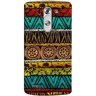 FUSON Designer Back Case Cover for LG G3 S :: LG G3 S Duos ::  LG G3 Beat Dual :: LG D722K :: LG G3 Vigor :: LG D722 D725 D728 D724 (Patterns Horizontal Stripes Bedsheet Design Cloths)
