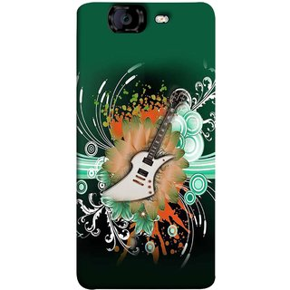 FUSON Designer Back Case Cover for Micromax Canvas Knight A350 :: Micromax A350 Canvas Knight (Blue Backgound Florence Painting Wall Art Sticker)