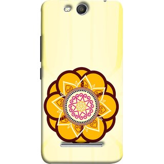 FUSON Designer Back Case Cover for Micromax Canvas Juice 3 Q392 (Best Rangoli Patterns Treditional Photo Wallpapers )