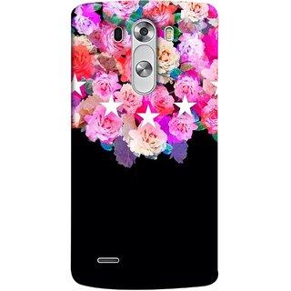 FUSON Designer Back Case Cover for LG G3 :: LG G3 Dual LTE :: LG G3 D855 D850 D851 D852 ( Background Shining Flowers Floral Patterns With Stars)