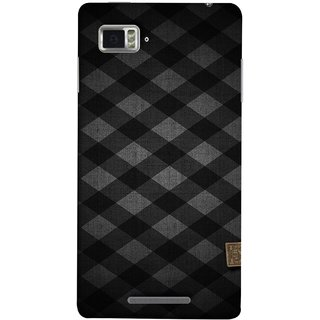 FUSON Designer Back Case Cover for Lenovo Vibe Z K910 (Geometric Wallpaper Art Print Black And White )