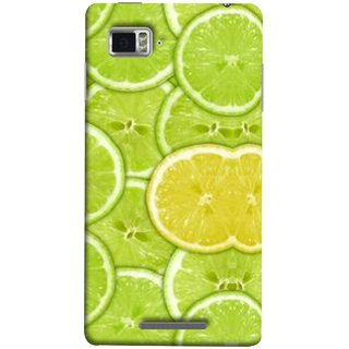 FUSON Designer Back Case Cover for Lenovo Vibe Z K910 (Lemon Lime Sweet Agriculture Farm Fresh Cut Cell)