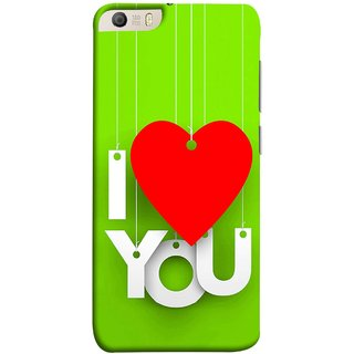 FUSON Designer Back Case Cover for Micromax Canvas Knight 2 E471 (Just Green Say Always I Love You Red Hearts Couples)