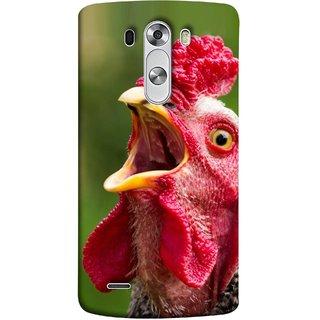 FUSON Designer Back Case Cover for LG G3 :: LG G3 Dual LTE :: LG G3 D855 D850 D851 D852 (A Crowing Chicken Green Grass Village Morning )