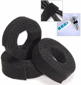 Aeoss Roll Reusable Cable Straps Cable Ties Hook  Loop Nylon Fastening Tape Wire Organizer for Cords Cable Management
