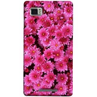 FUSON Designer Back Case Cover for Lenovo Vibe Z K910 (Thousands Flowers Magenta Mums Nature Pink)