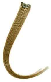 hair extension golden  blonde single clip