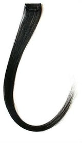 hair extension black  blonde single clip