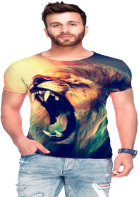 Raves Men's Poly Cotton T-shirts (Jungle Tees 46)