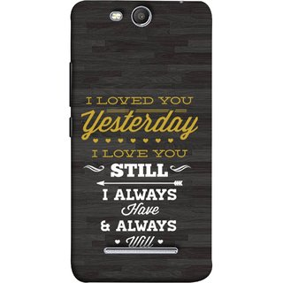 FUSON Designer Back Case Cover for Micromax Canvas Juice 3 Q392 (I Always Have And Always Will Love )
