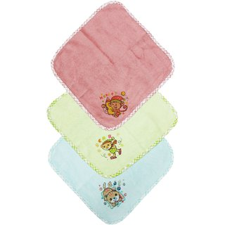 Tumble Printed Baby Napkin (Pack of 3)