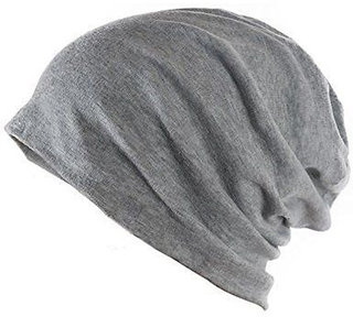 Beanie Cap Grey Woolen Cap Slouchy Cotton for Men  Women Unisex