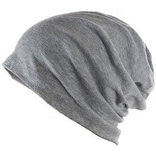 86%off Beanie Cap Grey Woolen Cap Slouchy Cotton for Men Women Unisex ebe6724e7fb